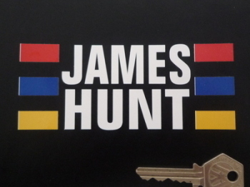 "James Hunt Helmet Sticker. 5""."