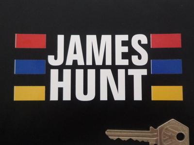 """James Hunt Helmet Sticker. 5""""."""