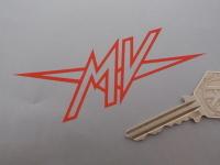 MV Agusta 'MV' Logo Cut Vinyl Stickers. 4