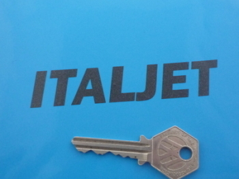 "Italjet Cut Vinyl Text Stickers. 4"" Pair."