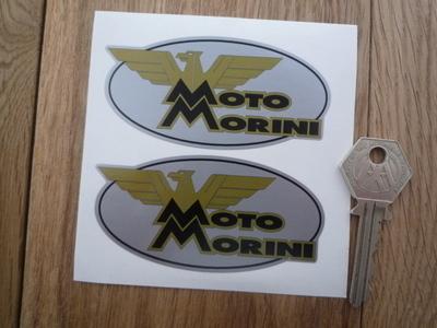 Moto Morini Oval Stickers. 3.5
