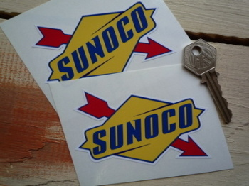 "Sunoco Later Style Stickers. 4"", 6"" or 8"" Pairs."