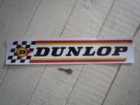 Dunlop Large Check & Stripes Rounded Corners Style Sticker. 19