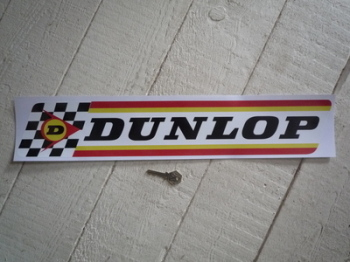 "Dunlop Large Check & Stripes Rounded Corners Style Sticker. 19"" or 22""."