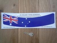 Australia Flag Helmet Visor Curved Sunstrip Sticker. 12