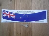 New Zealand Flag Helmet Visor Sunstrip Sticker. 12