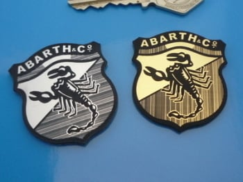 Abarth Shield Style Laser Cut Self Adhesive Car Badge. 1.5""