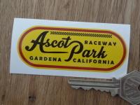 Ascot Park Raceway Gardena California Sticker. 3.5