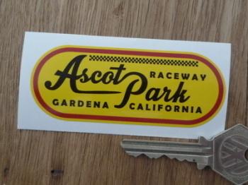 "Ascot Park Raceway Gardena California Sticker - 3.5"""