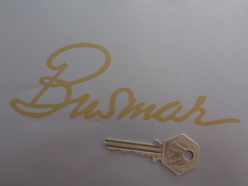 "Busmar Sidecars Cut Vinyl Script Sticker. 6""."