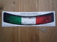 Italian Tricolore Worn & Distressed Style Helmet Visor Sunstrip Sticker. 12