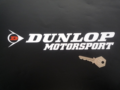 Dunlop Motorsport Cut Letters & Red 'D' Logo Stickers. 10