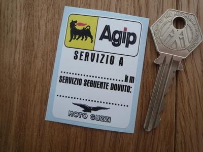 """Moto Guzzi & Agip Servizio A Service Sticker. 2""""."""