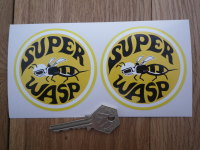"Vespa Super Wasp Dodge Super Bee Parody Stickers. 3"" Pair."