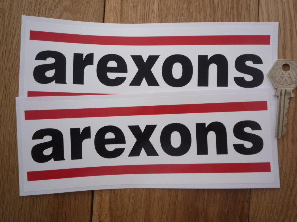 """Arexons Oblong Stickers. 8"""" Pair."""