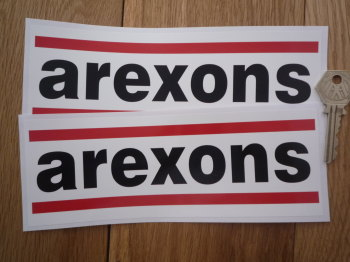 "Arexons Oblong Stickers. 8"" Pair."