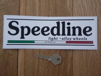 "Speedline Light - Alloy Racing Wheels Oblong Sticker. 8.25""."