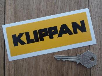 """Klippan Seatbelts Black & Yellow Sticker. 5""""."""
