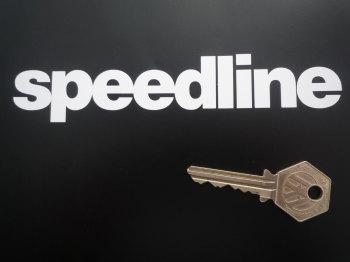 """Speedline Cut Vinyl Text Stickers. 6"""" Pair."""