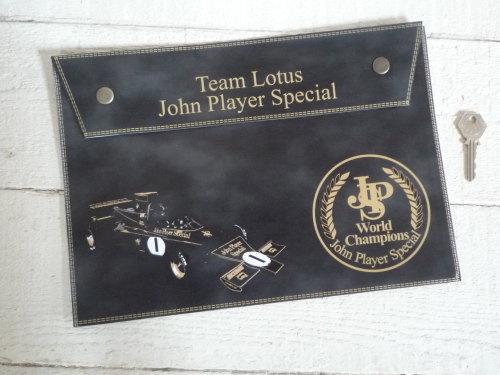 JPS John Player Special Team Lotus Document Holder/Toolbag. A4.