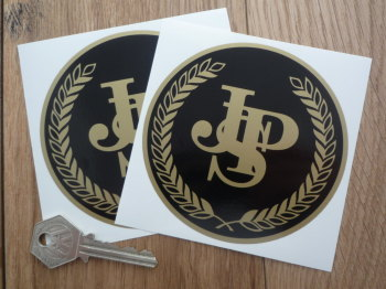 "John Player Special Half Garland Circular Stickers. 2.75"" or 4"" Pair."