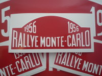 Monte-Carlo Rallye Rally Plate Stickers. 1955 - 1960. 6
