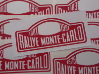 Monte-Carlo Rallye Rally Plate Stickers. 1979 - 2000. 6