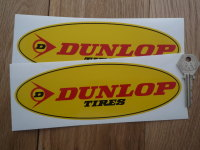 Dunlop Tires Yellow Oval Stickers. 8