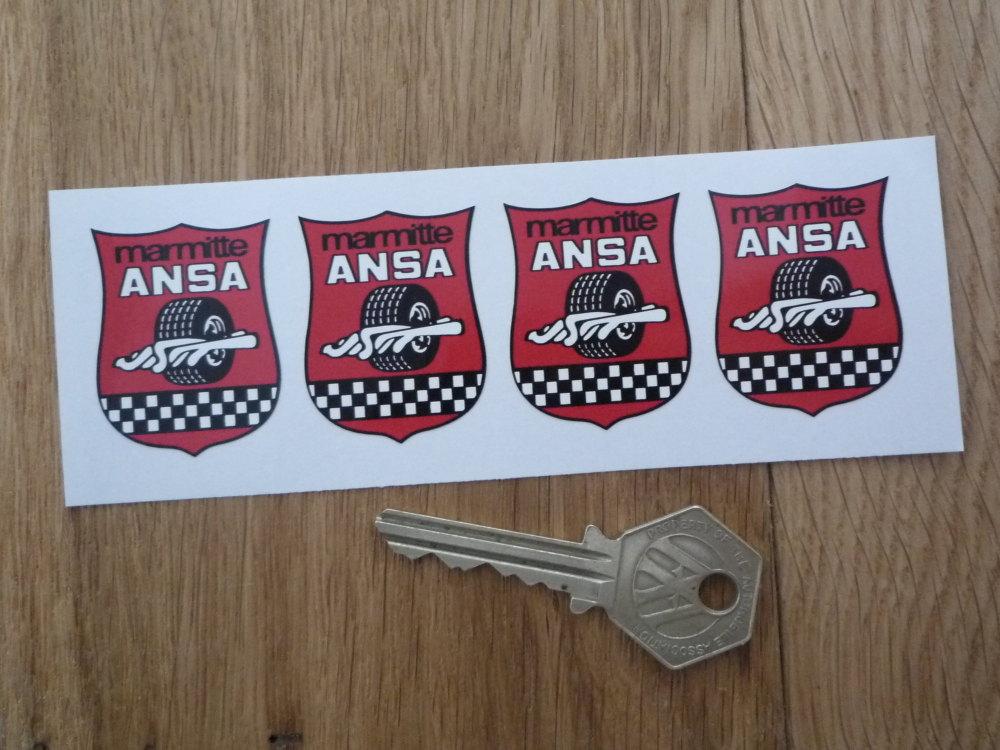 ANSA Marmitte Exhasts Stickers. Set of 4. 1.5