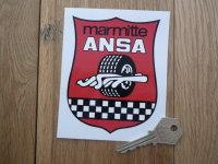 """ANSA Marmitte Exhausts Sticker. 4.25""""."""