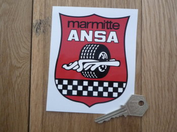 "ANSA Marmitte Exhausts Sticker. 4.25""."