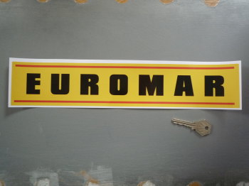 "Euromar Yellow Oblong Sticker. 14""."