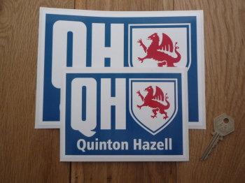 "Quinton Hazell QH Oblong Sticker. 6"" or 8""."