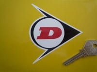 Dunlop White, Black & Red 'D' Stickers. 2
