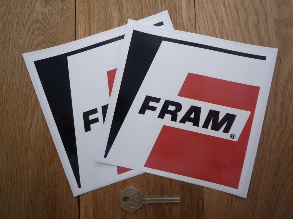 """Fram Filters Plain Style Stickers. 6"""" Pair."""