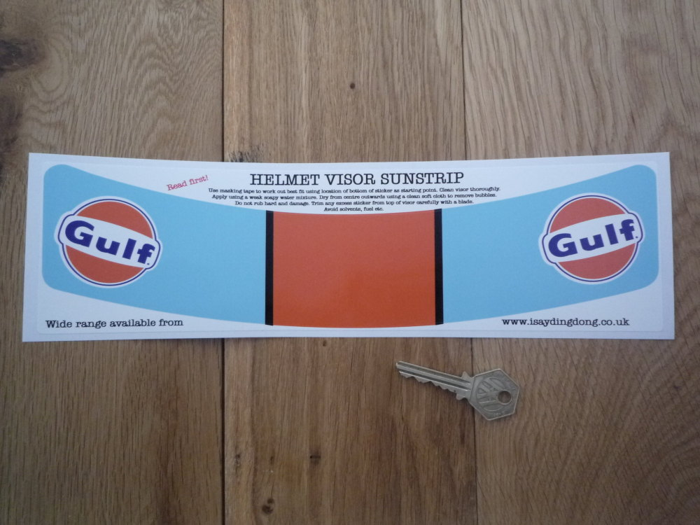 Gulf Gt40 Lemans Style Helmet Visor Sunstrip Sticker 12 Quot