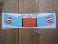 Gulf GT40/LeMans Style Helmet Visor Sunstrip Sticker. 12