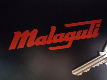 "Malaguti Cut Vinyl Text Stickers. 4"" Pair."