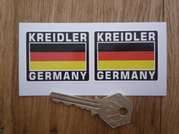 "Kreidler Germany German Flag Style Stickers. 2"" Pair."