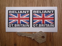 """Reliant Great Britain Union Jack Style Stickers. 2"""" Pair."""