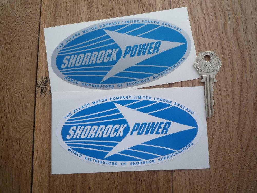 Shorrock Power Oval Stickers. 5.5