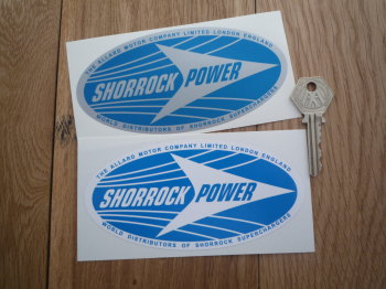 "Shorrock Power Oval Stickers. 5.5"" Pair."