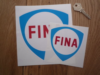 "Fina Blue Shield Stickers. 4"" or 6"" Pair."