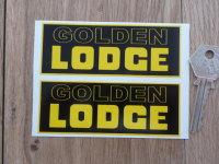 Golden Lodge Yellow & Black Oblong Stickers. 4