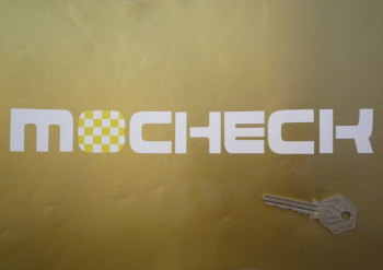 "Mocheck Yellow & White Check Style Dealers Stickers. 10"" or 12"" Pair."