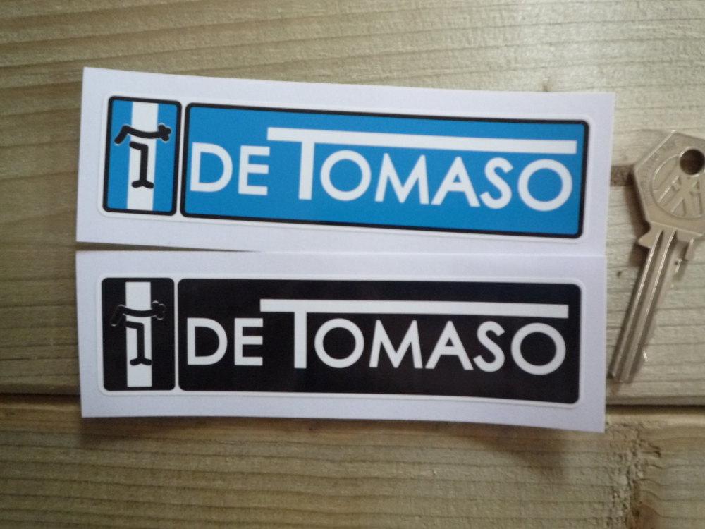 """De Tomaso Oblong Stickers. 4.75"""" Pair."""