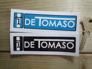 "De Tomaso Oblong Stickers. 4.75"" Pair."