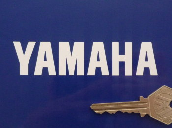 "Yamaha Cut Vinyl Text Stickers. 4"", 6"" or 12"" Pair."