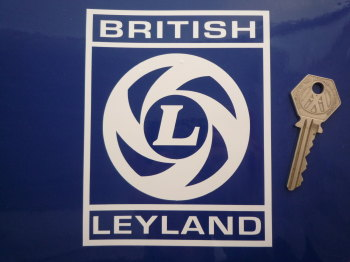 "British Leyland Cut Out Square 'L' Logo Sticker. 5""."