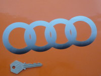 "Audi Hoops Cut to Shape Fade To Bottom Stickers. 8"" Pair."